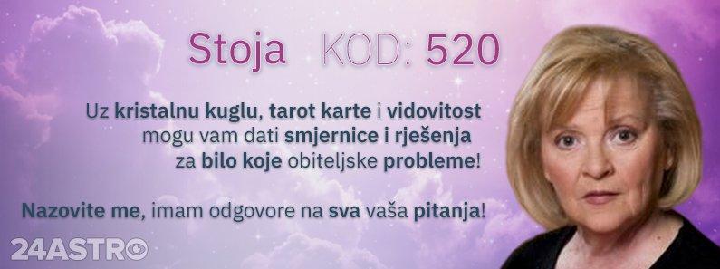 Astro savjetnica Stoja - kod 520 - Stoja Vam moze pomoci u svakom nedoumici!